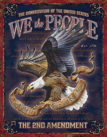 We The People - 2nd Amendment Tin Sign