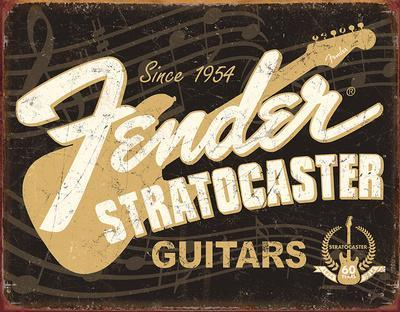 Fender Stratocaster 60th Tin Sign