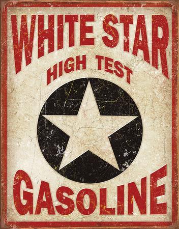 White Star Gasoline Tin Sign