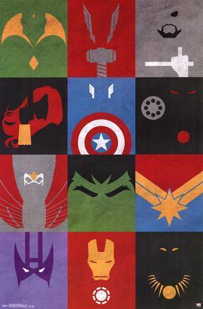 Avengers - Minimalist Grid