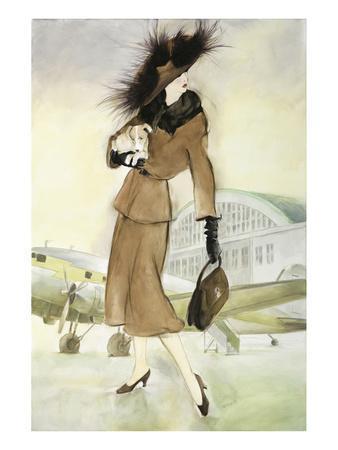 Lady at Airport
