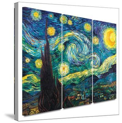 Starry Night 3 piece gallery-wrapped canvas