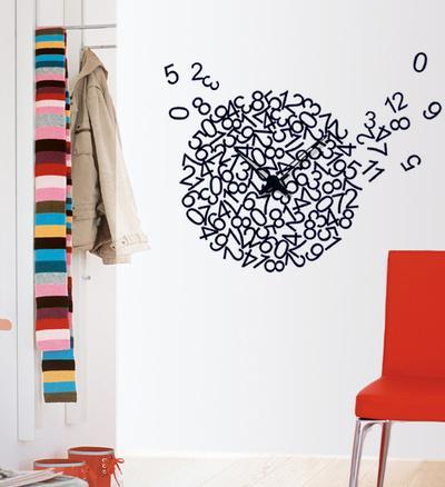 Crazy Numerary Clock Wall Decal