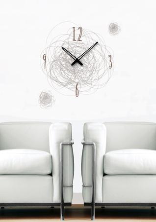 Time Swirl Clock Wall Decal