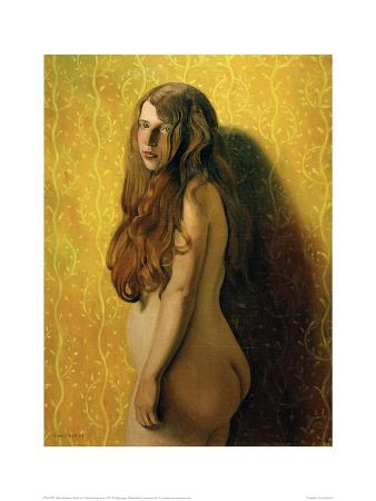 Nude on Yellow Background