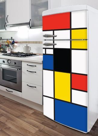 Pop Mondrian Refrigerator Decal