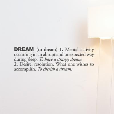 Dream (english) Wall Decal