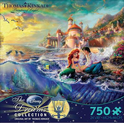 Thomas Kinkade Disney Dreams - The Little Mermaid 750 Piece Jigsaw Puzzle