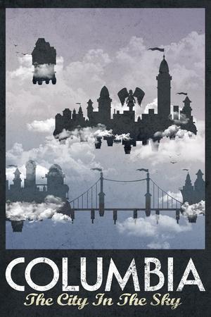 Columbia Retro Travel Plastic Sign