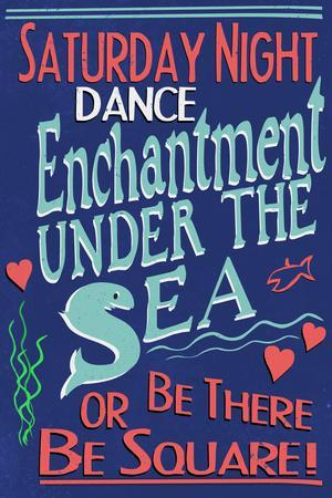 Enchantment Under The Sea Dance Movie Plastic Sign