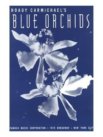 Song Sheet Cover: Hoagy Carmichael's Blue Orchids