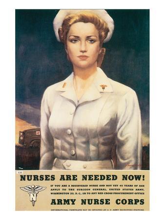 Nurses Are Needed Now! 1945