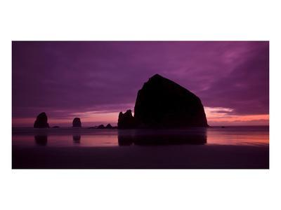 Cannon Beach Red Sunset