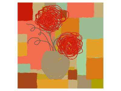 Vase of Red Flowers I