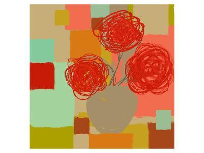 Vase of Red Flowers II