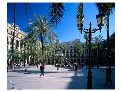 Placa Real in Barcelona Spain