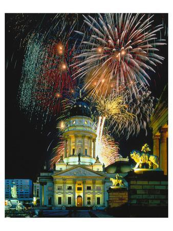 Fireworks Cathedral Berlin