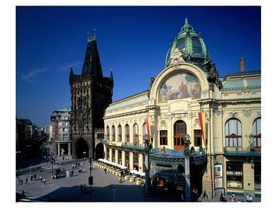 Powder Tower, Municipal House, Prague, Central Bohemia, Central Bohemia, Czech Republic
