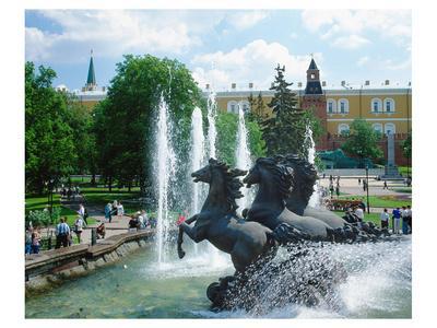 Fountain at Alexander Garden, Moscow, Russia