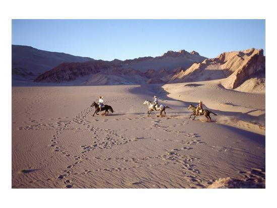 Horsemen In The Valle De La Muerte Atacama Desert Chile