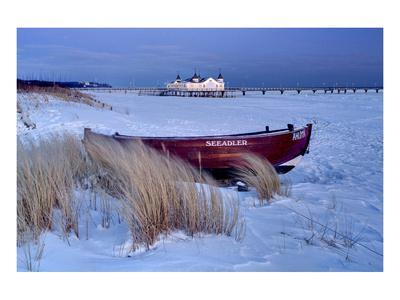Ahlbeck Pier and Beach, Baltic Sea Resort of Ahlbeck, Usedom, Germany