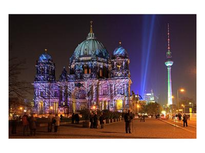 Festival of Lights, Berlin Cathedral at the Pleasure Garden, Lustgarten, Berlin