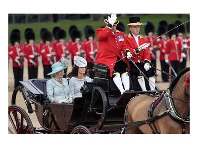 Camilla, Duchess of Cornwall and Catherine, Duchess of Cambridge at Queen's Annual Birthday Parade