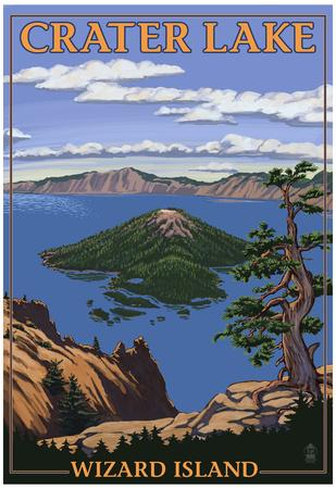 Crater Lake, Oregon - Wizard Island View, c.2009