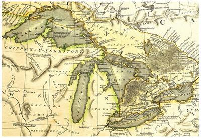 1795 Map Of The Great Lakes