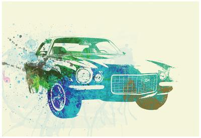 Chevy Camaro Watercolor