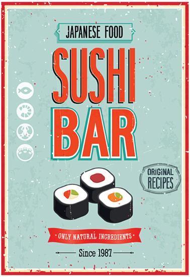 Vintage Sushi Bar Poster Prints At Allposters Com