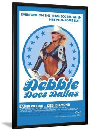 Debbie Does Dallas Retro Adult Movie Poster