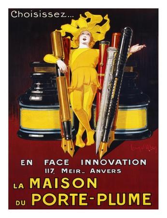 la maison du porte plume 1924 poster by jean d 39 ylen at. Black Bedroom Furniture Sets. Home Design Ideas