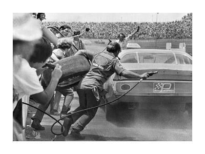 Stock Car in Pit Stop, Daytona, Florida 1974