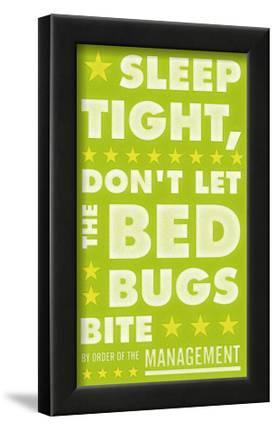Sleep Tight, Don't Let The Bedbugs Bite (green & white)