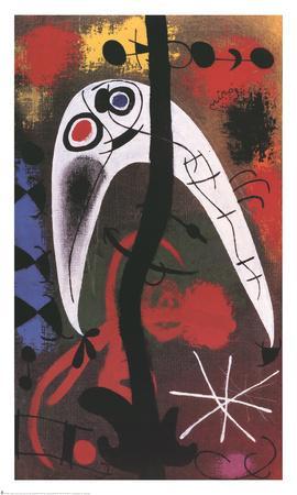 Femme et Oiseau dans la nuit