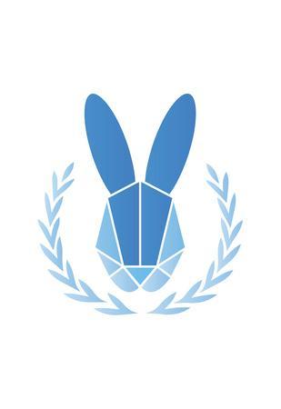Paper Taxidermy Rabbit