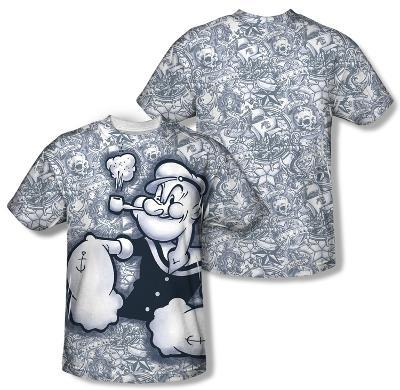 Popeye - Tattooed Sailor (Front/Back Print)