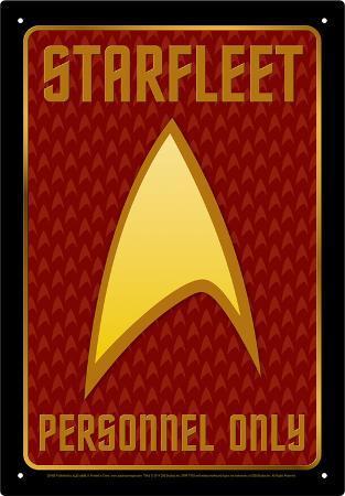 Star Trek - Starfleet Personnel Tin Sign