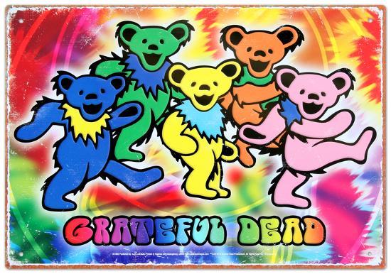 Grateful Dead Bears Tin Sign