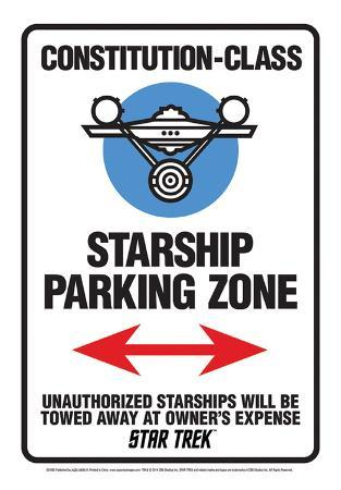 Star Trek - Star Ship Parking Tin Sign