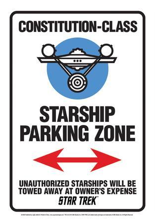 Star Trek - Star Ship Parking Tin Sign