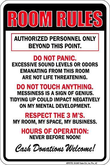 Room Rules Tin Sign At Allposters Com