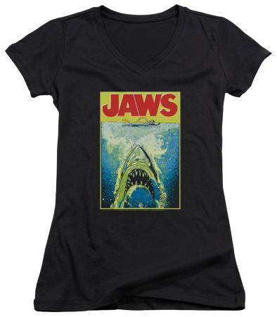 Juniors: Jaws - Bright Jaws V-Neck