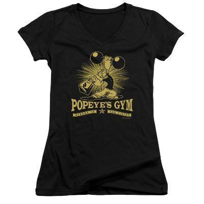 Juniors: Popeye - Popeyes Gym V-Neck
