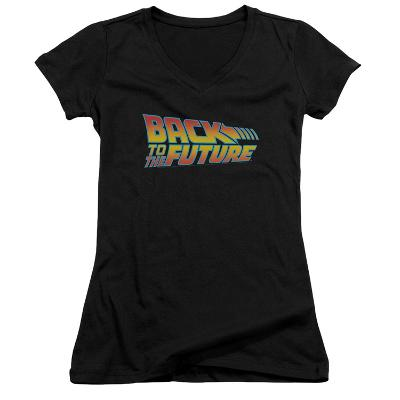 Juniors: Back To The Future - Logo V-Neck