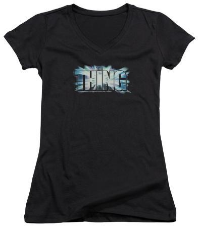Juniors: The Thing - Logo V-Neck