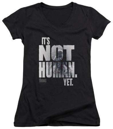 Juniors: The Thing - Not Human Yet V-Neck
