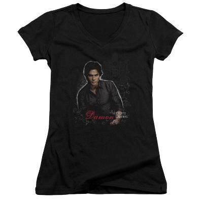 Juniors: The Vampire Diaries - Damon V-Neck