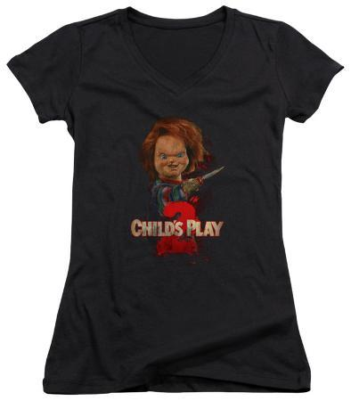 Juniors: Childs Play 2 - Heres Chucky V-Neck